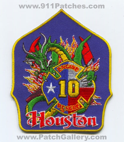 Houston Fire Department Station 10 Patch Texas TX