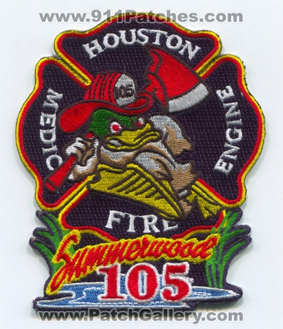 Houston Fire Department Station 105 Patch Texas TX