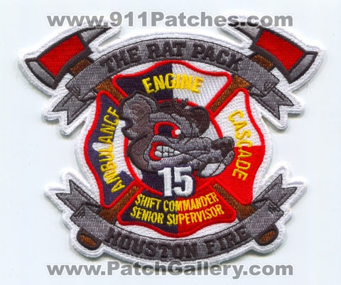 Houston Fire Department Station 15 Patch Texas TX