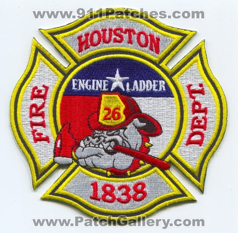 Houston Fire Department Station 26 Patch Texas TX