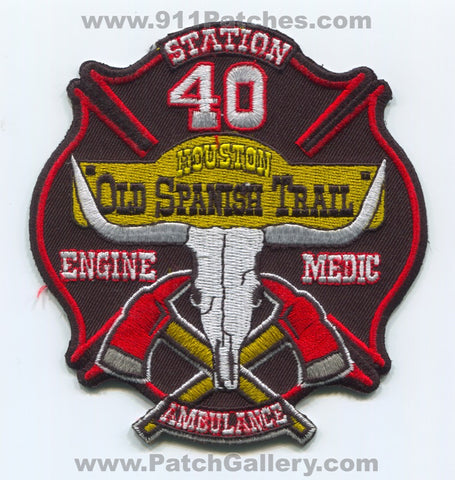 Houston Fire Department Station 40 Patch Texas TX