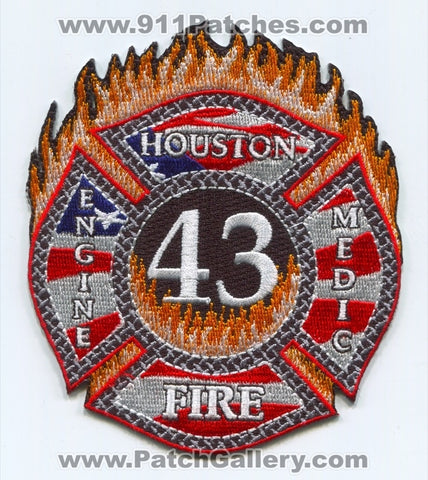 Houston Fire Department Station 43 Patch Texas TX