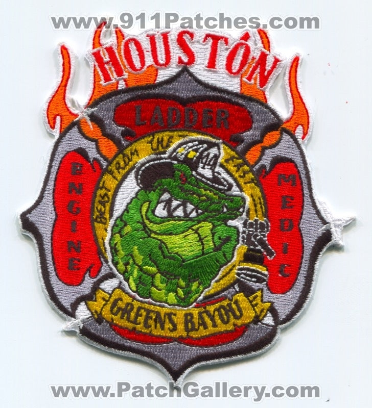 Houston Fire Department Station 44 Patch Texas TX