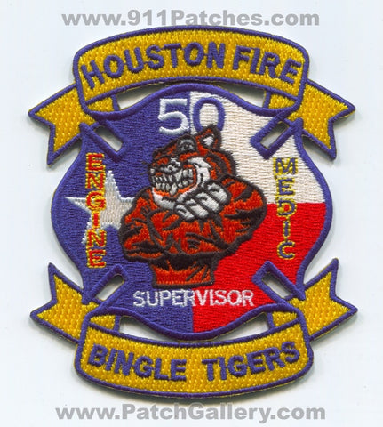 Houston Fire Department Station 50 Patch Texas TX