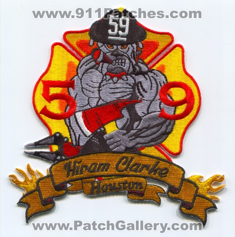 Houston Fire Department Station 59 Patch Texas TX