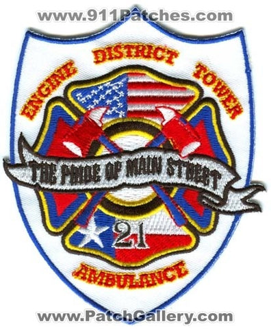Houston Fire Department Station 21 Patch Texas TX