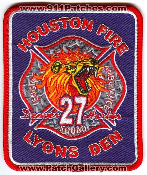 Houston Fire Department Station 27 Patch Texas TX