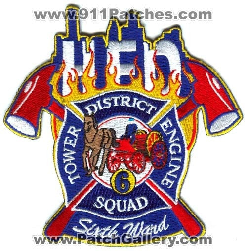 Houston Fire Department Station 6 Patch Texas TX