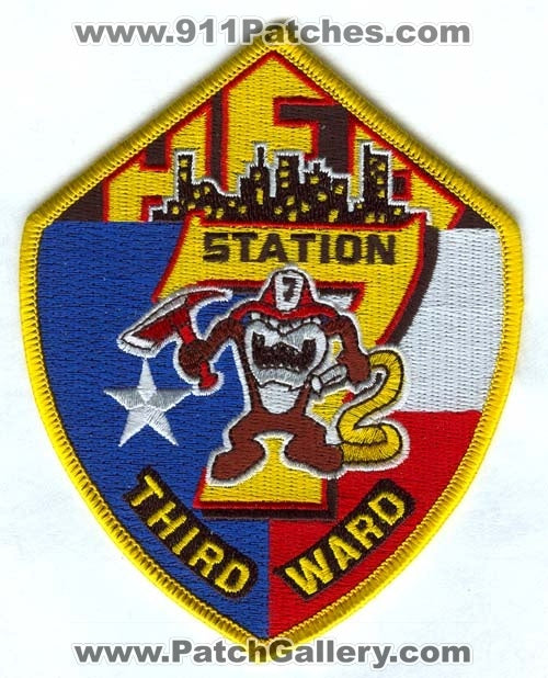 Houston Fire Department Station 7 Patch Texas TX
