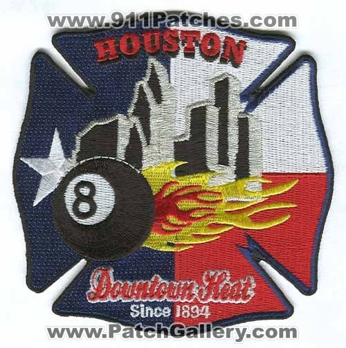 Houston Fire Department Station 8 Patch Texas TX