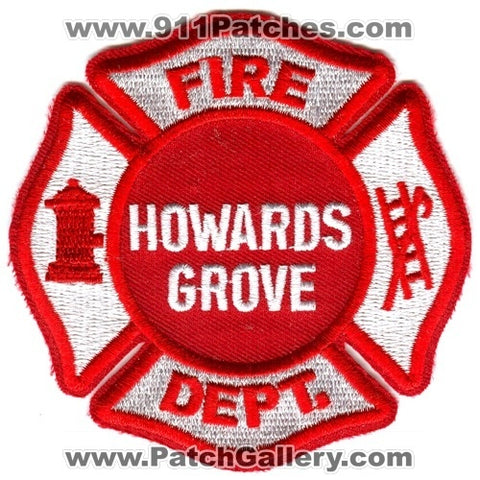 Howards Grove Fire Department Patch Wisconsin WI