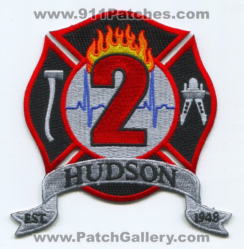 Hudson Fire Department 2 Patch Unknown State