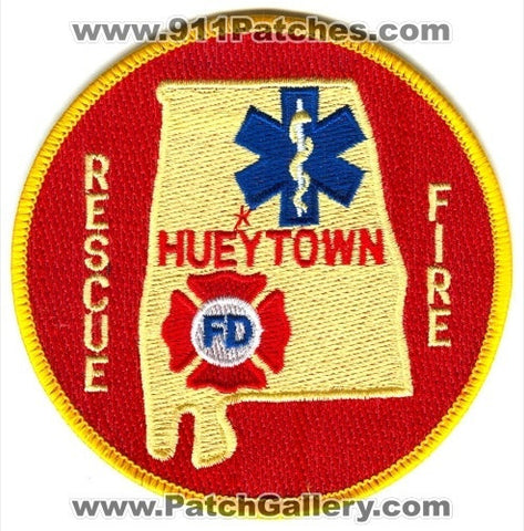 Hueytown Fire Rescue Department Patch Alabama AL