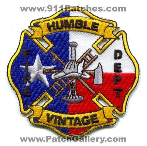 Humble Vintage Fire Department Patch Texas TX