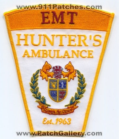 Hunters Ambulance EMT EMS Patch Connecticut CT