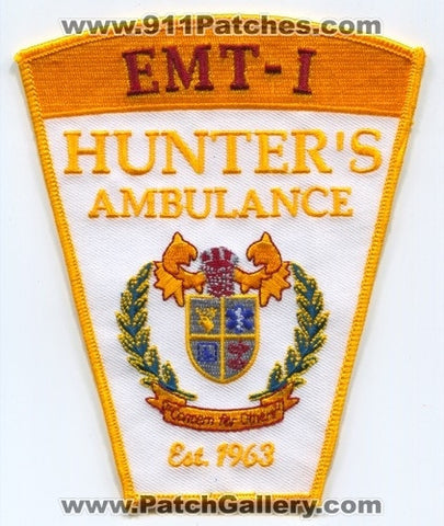 Hunters Ambulance EMT-I EMS Patch Connecticut CT