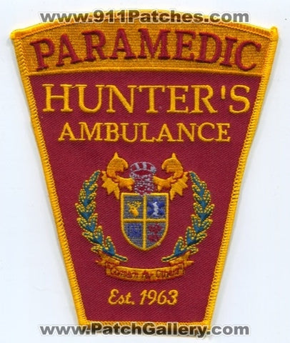 Hunters Ambulance Paramedic EMS Patch Connecticut CT