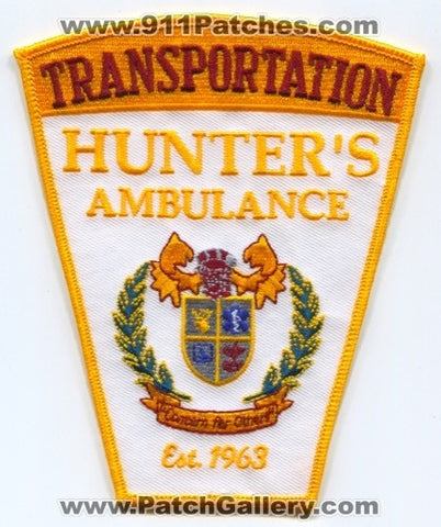 Hunters Ambulance Transportation EMS Patch Connecticut CT