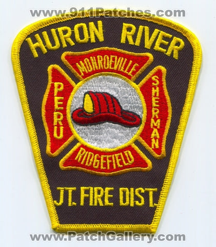 Huron River Joint Fire District Monroeville Ridgefield Peru Sherman Patch Ohio OH