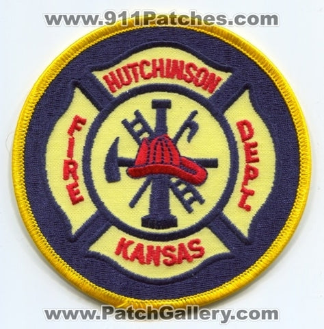 Hutchinson Fire Department Patch Kansas KS