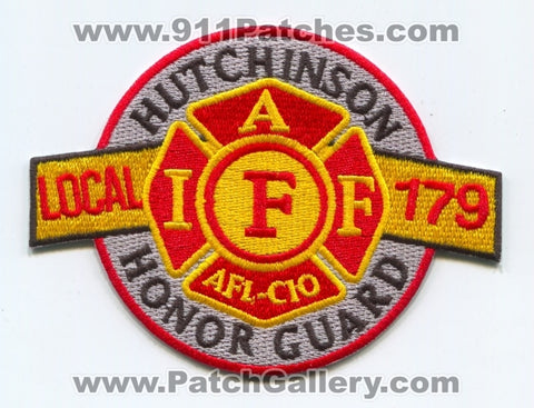 Hutchinson Fire Department Honor Guard IAFF Local 179 Patch Kansas KS