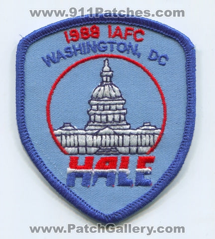 International Association of Fire Chiefs IAFC 1988 Washington DC Patch Washington DC