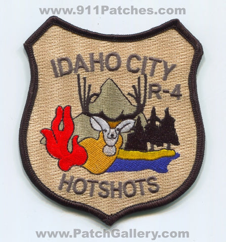 Idaho City HotShots Region 4 Forest Fire Wildfire Wildland Patch Idaho ID