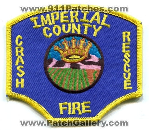Imperial County Airport Crash Fire Rescue CFR Department Patch California CA