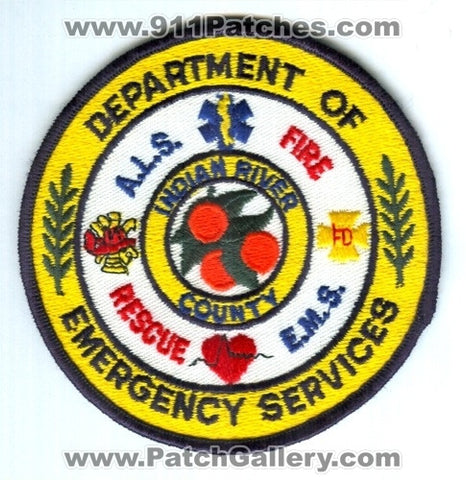 Indian River County Department of Emergency Services Patch Florida FL