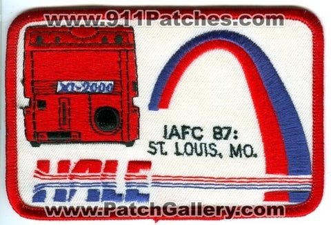 International Association of Fire Chiefs IAFC 1987 Saint Louis Patch Missouri MO