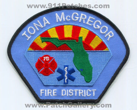 Iona McGregor Fire District Patch Florida FL