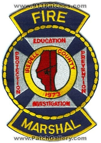 Iredell County Fire Marshal Patch North Carolina NC