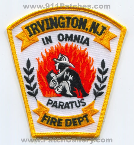 Irvington Fire Department Patch New Jersey NJ