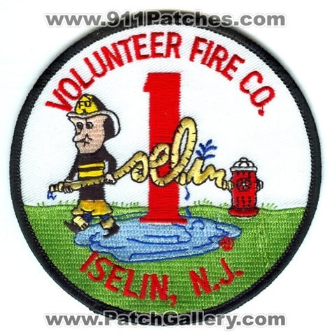 Iselin Volunteer Fire Company 1 Patch New Jersey NJ