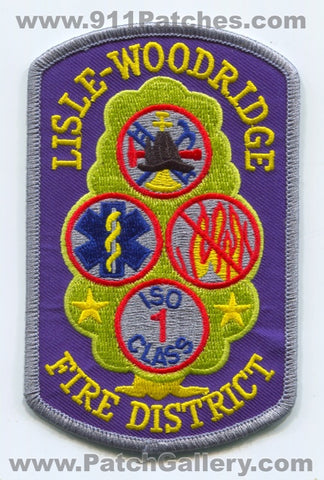 Lisle-Woodridge Fire District ISO Class 1 Patch Illinois IL