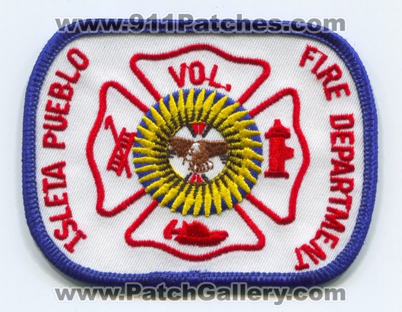 Isleta Pueblo Volunteer Fire Department Patch New Mexico NM