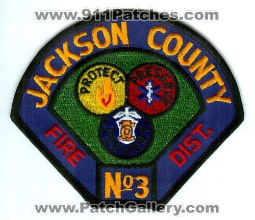 Jackson County Fire District Number 3 Patch Oregon OR