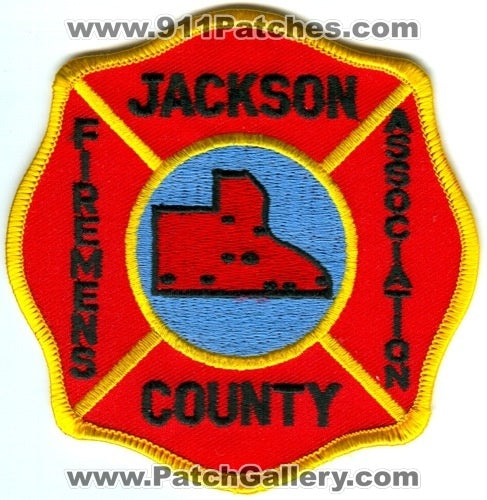 Jackson County Firemens Association Patch Iowa IA