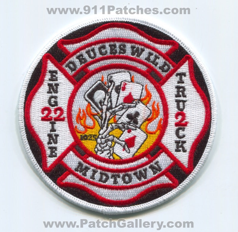 Jackson Fire Department Engine 22 Truck 2 Patch Tennessee TN
