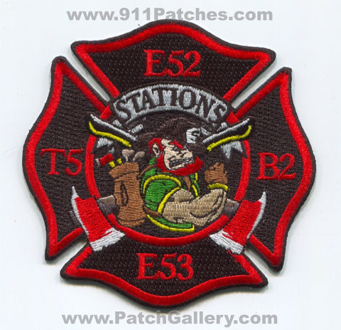 Jackson Fire Department Engine 52 53 Truck 5 Battalion 2 Station 5 Patch Tennessee TN
