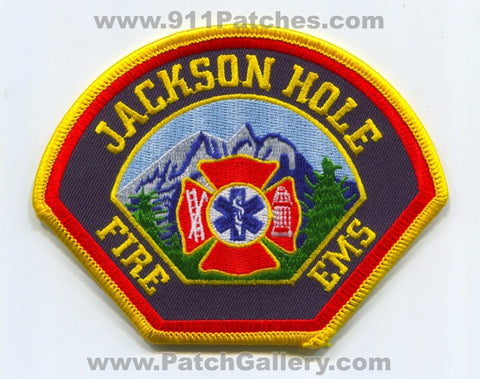 Jackson Hole Fire EMS Department Patch Wyoming WY