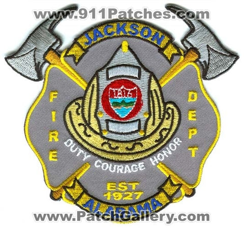Jackson Fire Department Patch Alabama AL