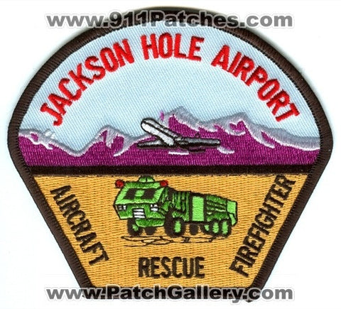 Jackson Hole Airport Fire Department Aircraft Rescue Firefighter ARFF Patch Wyoming WY