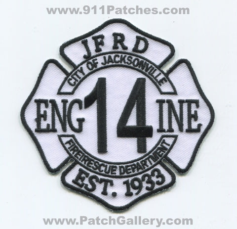 Jacksonville Fire and Rescue Department Engine 14 Patch Florida FL