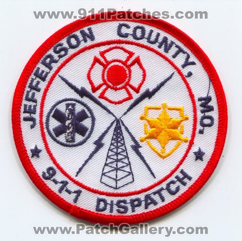 Jefferson County 911 Dispatcher Fire EMS Police Sheriffs Patch Missouri MO