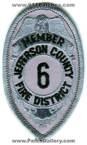 Jefferson County Fire District 6 Member Patch Washington WA