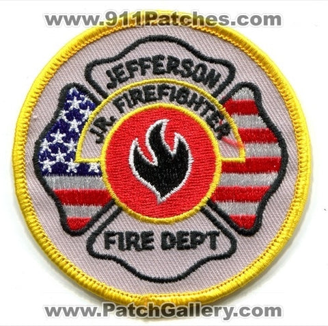 Jefferson Fire Department Junior Firefighter Patch Unknown State