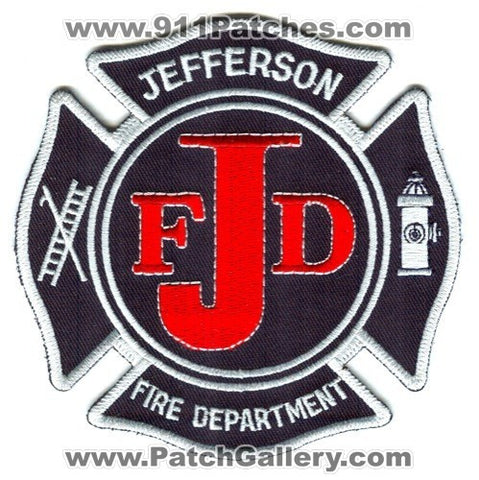 Jefferson Fire Department Patch Unknown State