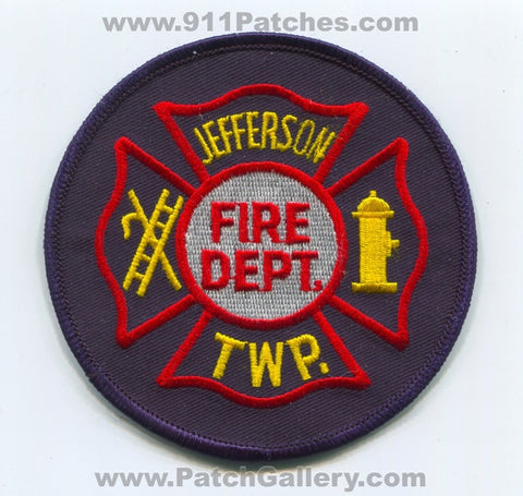 Jefferson Township Fire Department Patch Ohio OH