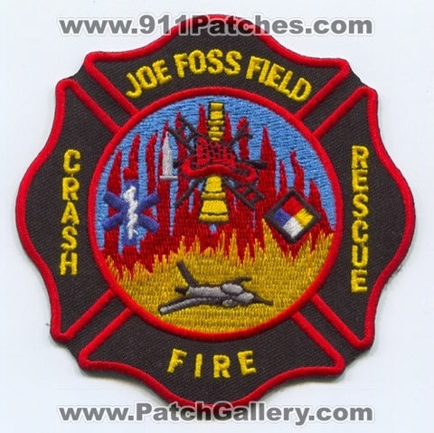Joe Foss Field Crash Fire Rescue Department Patch South Dakota SD
